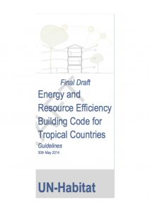 UN-Habitat_Draft Resource Energy Efficiency Building Codes for Tropical Countries_Titelbild