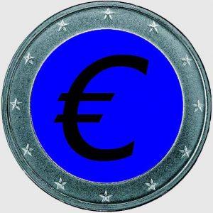 Euromünze_blau+grau
